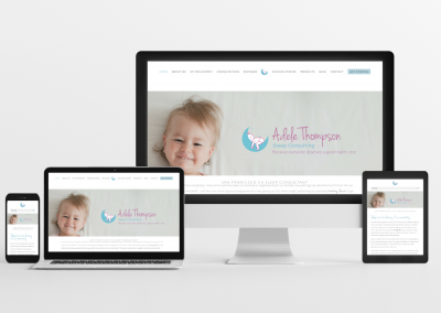 Adele Thompson Sleep Consulting – Sleep Consulting Website Design