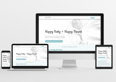 Baby's Best Sleep – Sleep Consulting Website Design