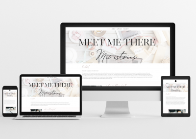 Meet Me There – Blog Website Design