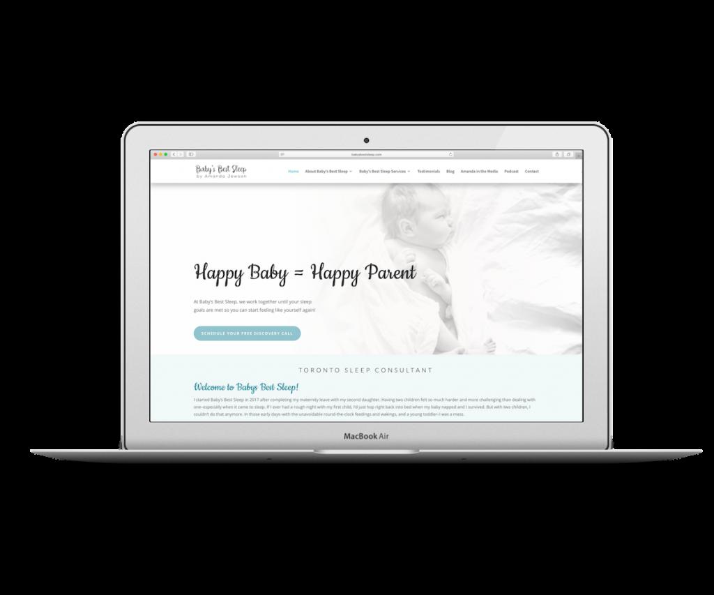 Baby's Best Sleep screenshot - Capstone Digital Marketing