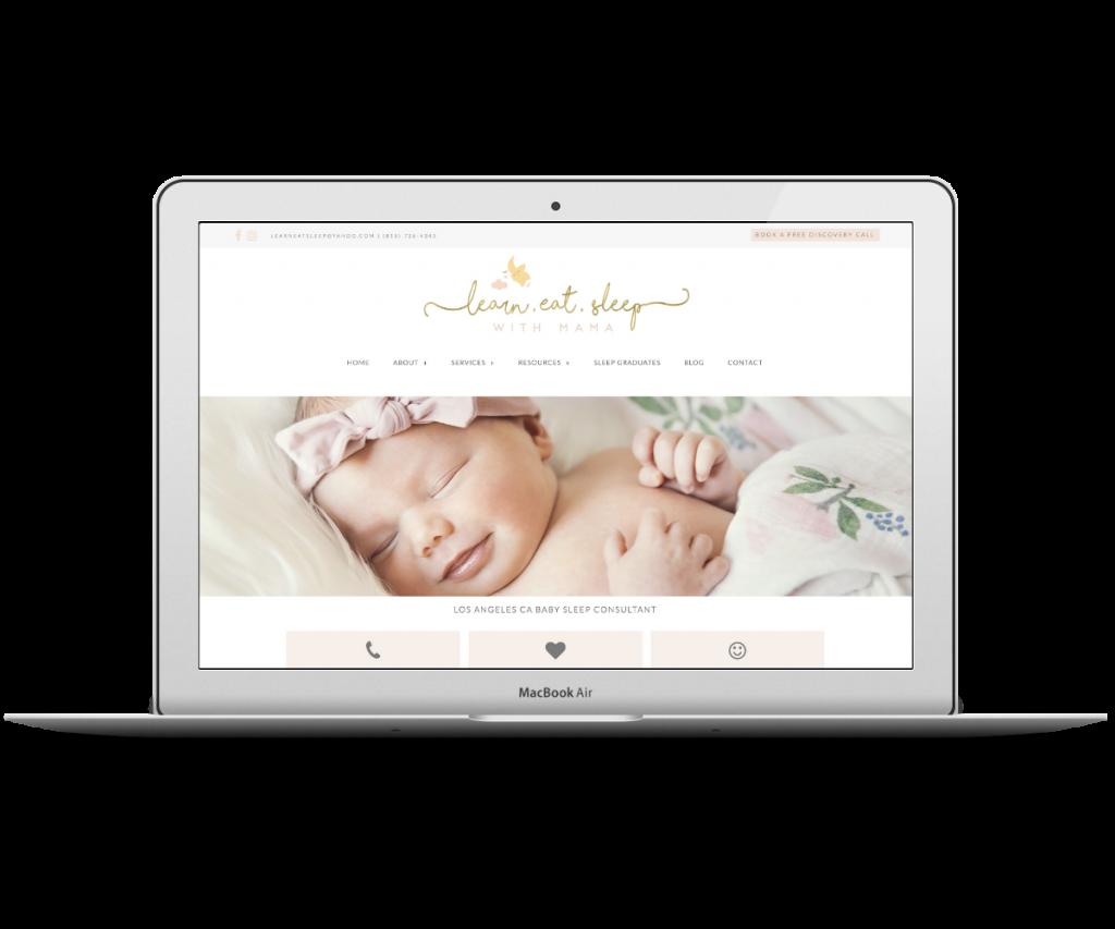 Learn Eat Sleep homepage - Capstone Digital Marketing