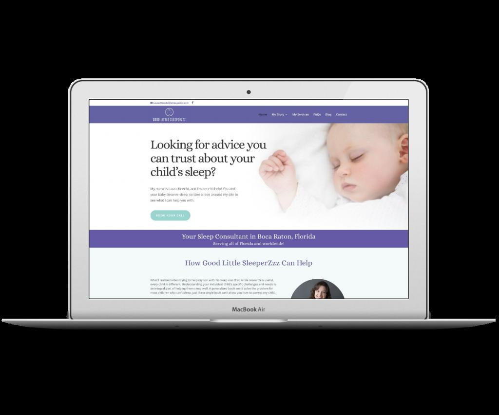 Good Little Sleeperz homepage - Capstone Digital Marketing