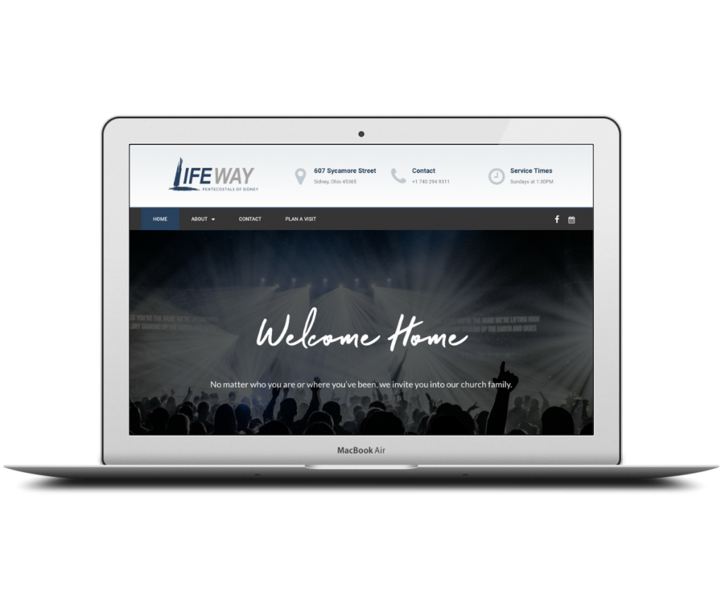 Lifeway Sidney screenshot - Capstone Digital Marketing