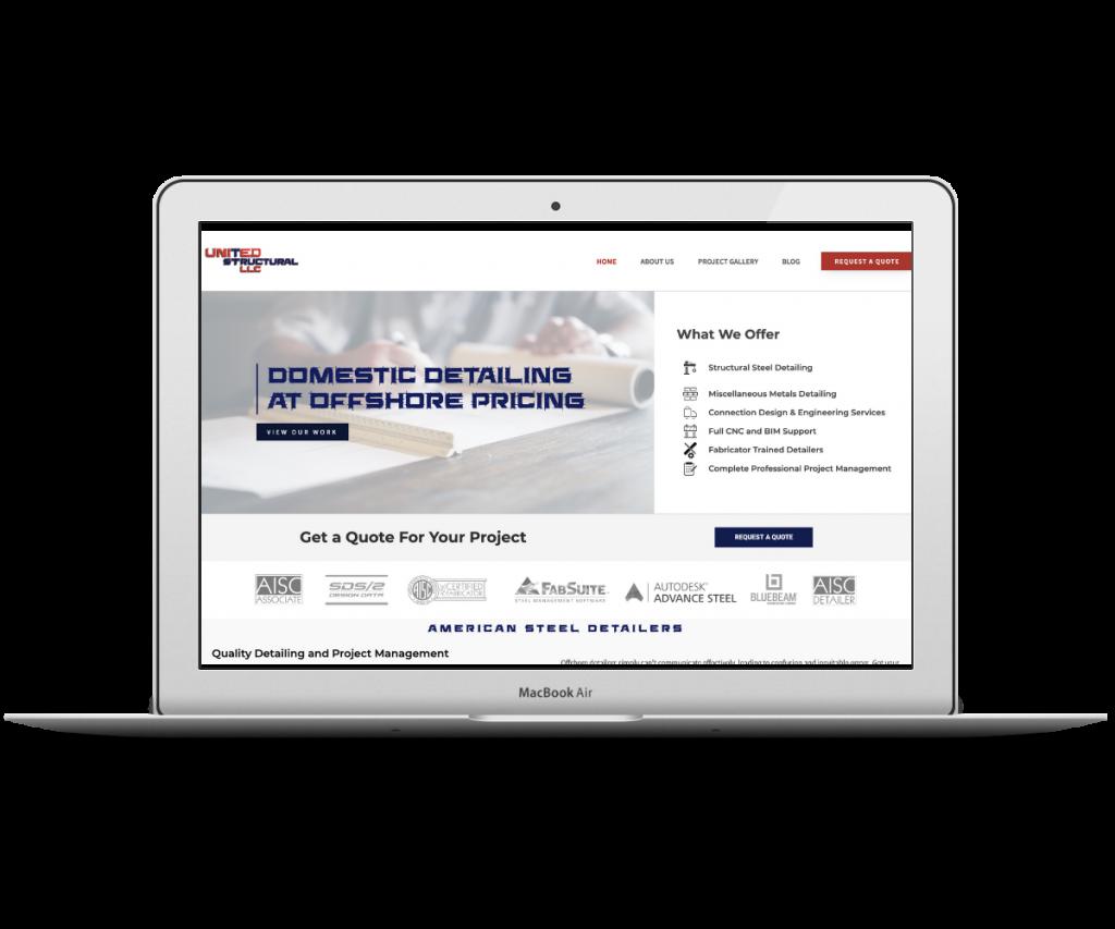 United Structural screenshot - Capstone Digital Marketing